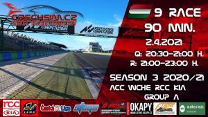 9. Race World Challenge Europe RCC Kia Serie A Hungaroring