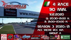 4. Race World Challenge Europe RCC Kia Serie A Misano