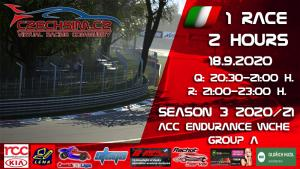 1. Race World Challenge Europe RCC Kia Serie A Monza 18.9.2020