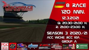 8. Race World Challenge Europe RCC Kia Serie A Nurburgring