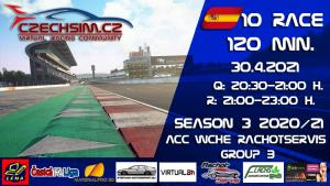 10. Race World Challenge Europe Rachotservis Serie B Barcelona