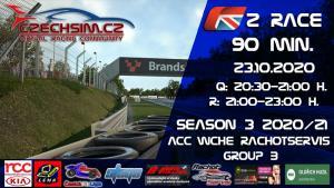 2. Race World Challenge Europe Rachotservis Serie B BrandsHatch