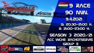 9. Race World Challenge Europe Rachotservis Serie B Hungaroring