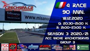 4. Race World Challenge Europe Rachotservis Serie B Misano